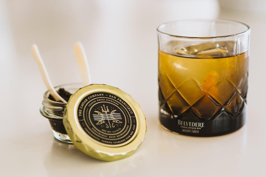 Caviar and Belvedere Vodka